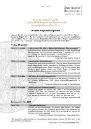 Programmdetails - Heidelberg Alumni International