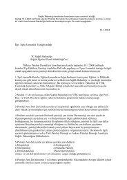 18.1.2004 Đlgi: Tıpta Uzmanlık Tüzüğü taslağı TC Sağlık Bakanlığı ...