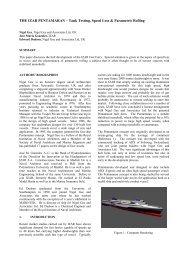 THE IZAR PENTAMARAN – Tank Testing, Speed Loss ... - BMT Group