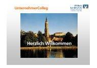 UnternehmerColleg - VR-Bank Landshut eG