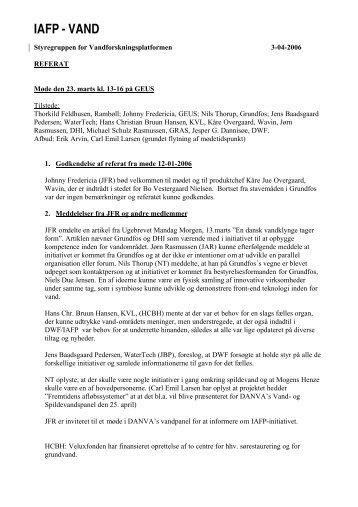 IAFP - VAND - Forskningsplatformen