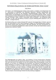 Die Kinheimer Burg als Winzergenossenschaft - Trier