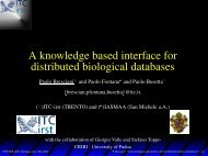 A knowledge based interface for distributed biological databases