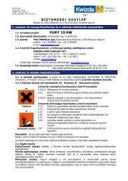 Biztonságtechnikai adatlap (Fury 10 EW) - Kwizda