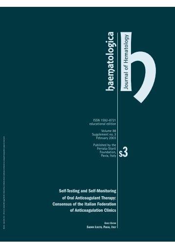 Haematologica 2003 - Supplements - Haematologica
