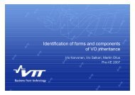 Identification of forms and components of VO inheritance