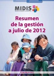 Resumen de gestión imprenta 07-2012.indd - Desarrollo ...