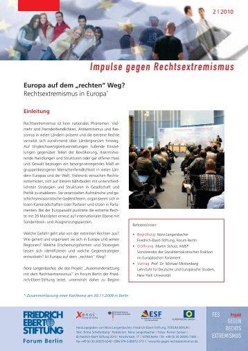 "Europa auf dem ""rechten"" - Bibliothek der Friedrich-Ebert-Stiftung"