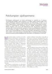 Polvilumpion sijoiltaanmeno - Duodecim