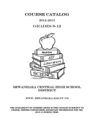 2012-13 Course Catalog.pdf - Sewanhaka Central High School District