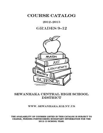 2012-13 Course Catalog.pdf - Sewanhaka Central High School District