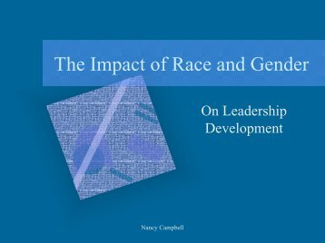 The Impact of Race and Gender - Population Leadership Program