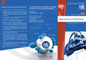 leaflet - Czech Technical University in Prague