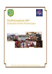 Profil Kesehatan 2007 Kabupaten Kutai Kartanegara - Departemen ...