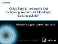 Cloud Web Security Gateway - Websense
