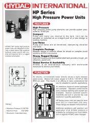 High Pressure Power Units - Lifco Hydraulics USA