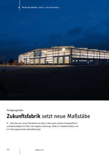 Zukunftsfabrik setzt neue Maßstäbe - Deutsch
