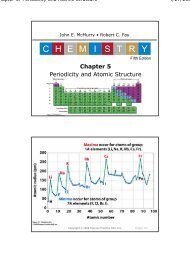 Ch 5 Periodicity and Atomic Structure