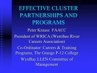 Peter Krausz - Effective Cluster Partnerships and Programs