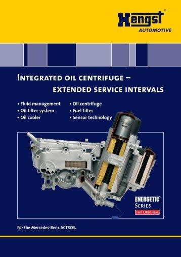 Integrated oil centrifuge - Hengst GmbH & Co. KG