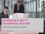 Einführung in den IT-Grundschutz nach BSI