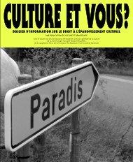 Téléchargez le dossier - Droits Culturels