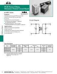 PCB Power Filter Catalog - Spectrum Control