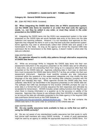 CATEGORY 4 - OASIS DATA SET - Selman-Holman & Associates