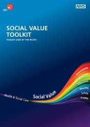 Social Value Toolkit Report - Voluntary Sector North West