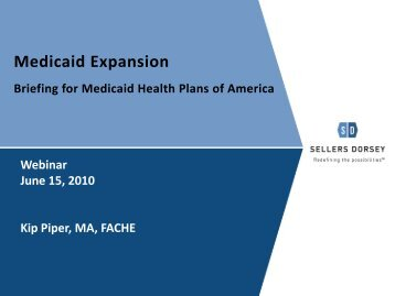 Medicaid Expansion - Medicaid Health Plans of America
