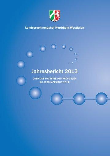 Jahresbericht 2013 - Landesrechnungshof des Landes Nordrhein ...