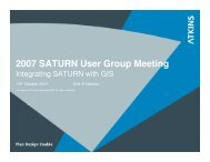 Part 6 Integrating Saturn And GIS