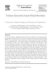 Column Generation based Primal Heuristics - Laboratoire de ...
