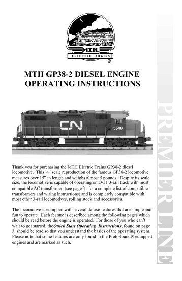 Gp38-2 operating manual