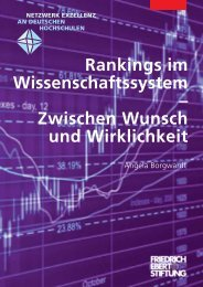 Rankings im Wissenschaftssystem - zwischen Wunsch und ...