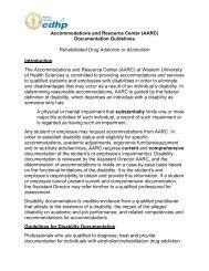 Documentation for Alcohol and Rehabilitated Drug Addiction