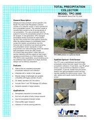 total precipitation collector model tpc-3000 - Yankee Environmental ...