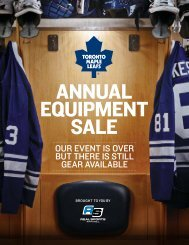 2013 Toronto Maple Leafs Annual Equipment Sale Items - Real Sports