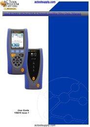 Ideal SignalTEK II Manual - Netzerotools.com
