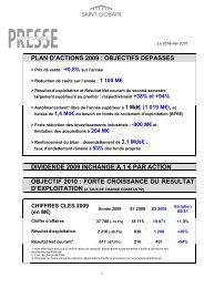 Résultats définitifs 2009 - Saint-Gobain