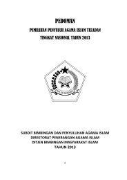 Seleksi PAI Teladan (Lampiran) - Kanwil Kemenag Provinsi ...