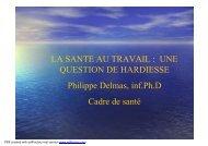 Présentation SANTE AU TRAVAIL 2 déc 05 - Canalblog