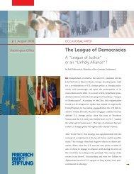 The league of democracies - Bibliothek der Friedrich-Ebert-Stiftung