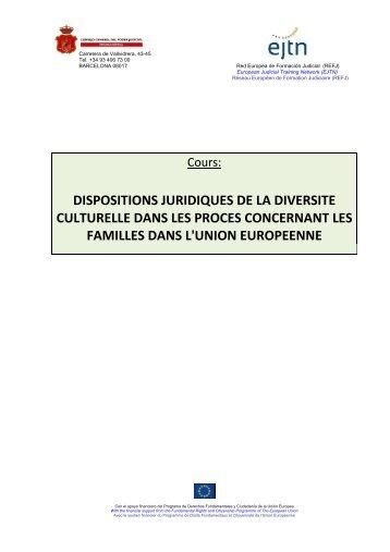 dispositions juridiques de la diversite culturelle dans les proces ...