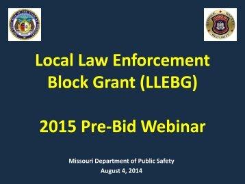 2015-LLEBG-PreBid-Training