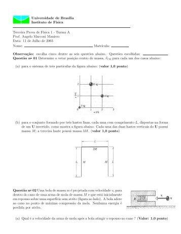 Prova III - Instituto de Física da UFBA