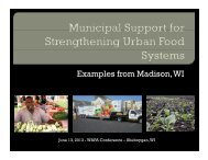 Madison's Healthy Food Initiative