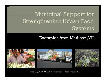 Madison's Healthy Food Initiative