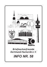 INFO NR. 58 - Briefmarkenfreunde Dortmund-Huckarde e. V.