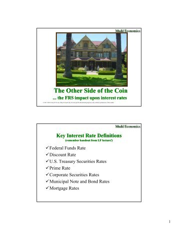 The Federal Reserve System and Interest Rates